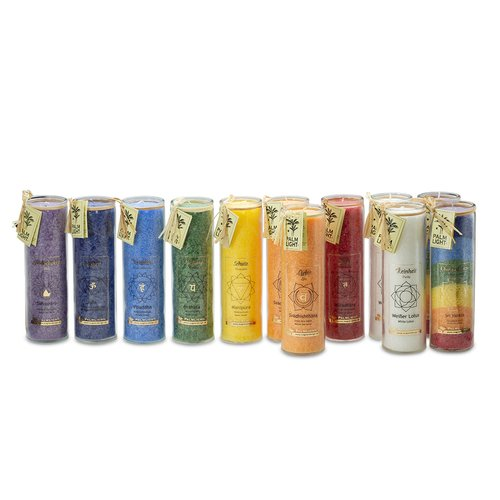 CHAKRA candles, mix carton, about 20 cm, (13 pieces)