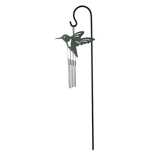 Musical Ornament Stake Chimes, HUMMINGBIRD