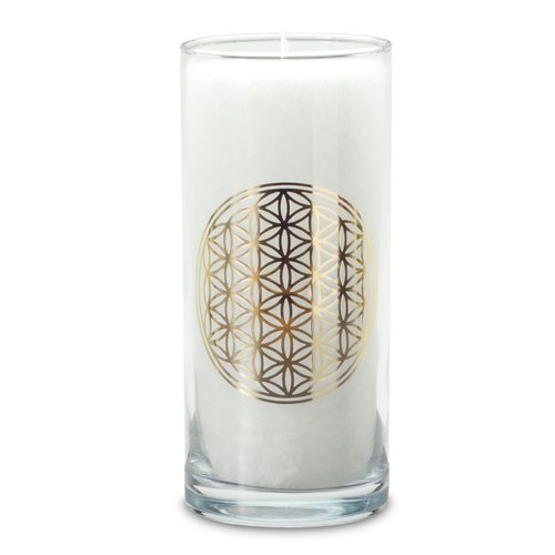 MAGIC CANDLE, white, FLOWER OF LIFE