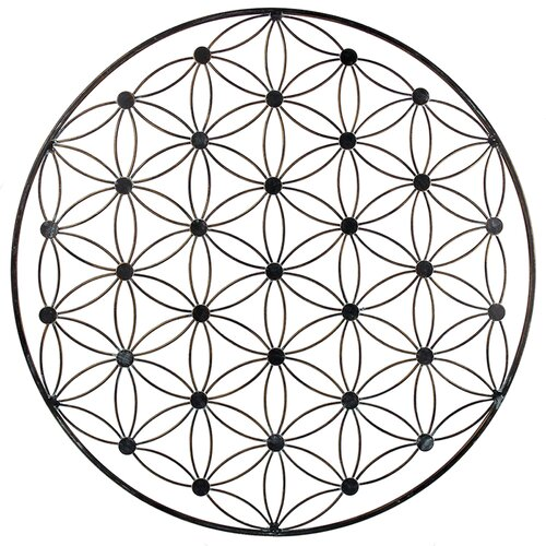 Flower of Life, Antique Gold, ca. Ø 57 cm