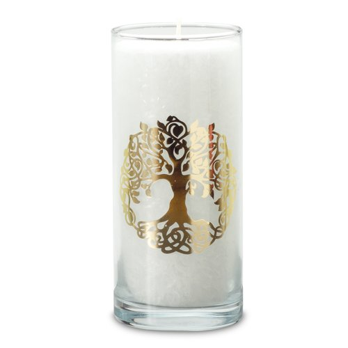 MAGIC CANDLE, white, TREE OF LIFE