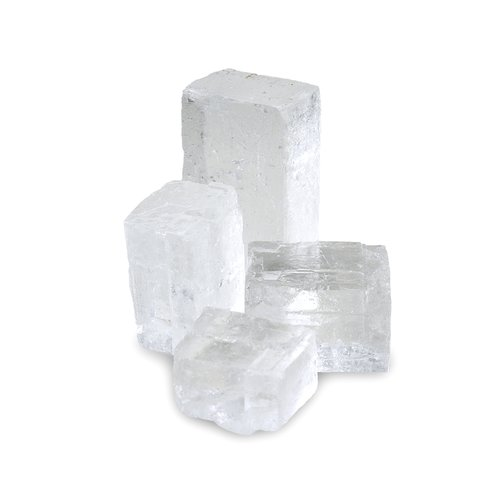 HALITE Salt Diamond, clear, cube shaped, 1 kg PE bag
