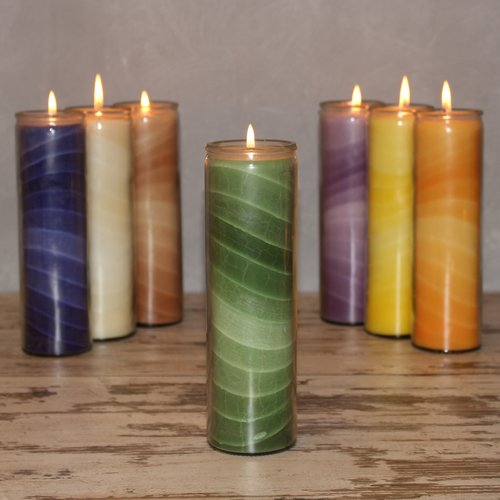 Feng Shui NUANCE candle, about 20 cm, GREEN