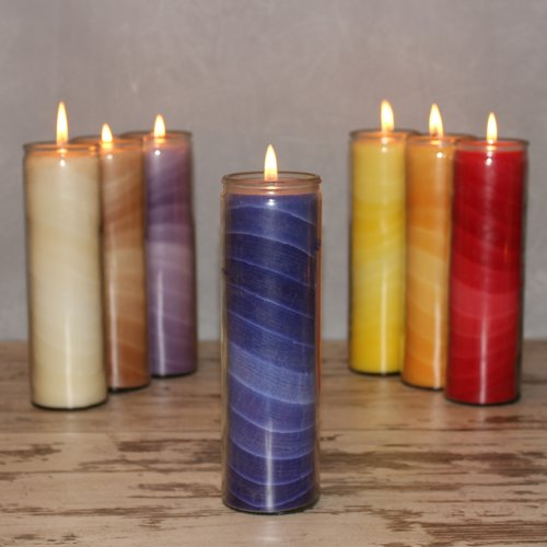 Feng Shui NUANCE candle, about 20 cm, BLUE
