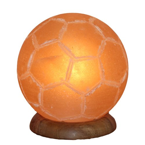Illuminated Salt Crystal, FOOTBALL ca. 3kg