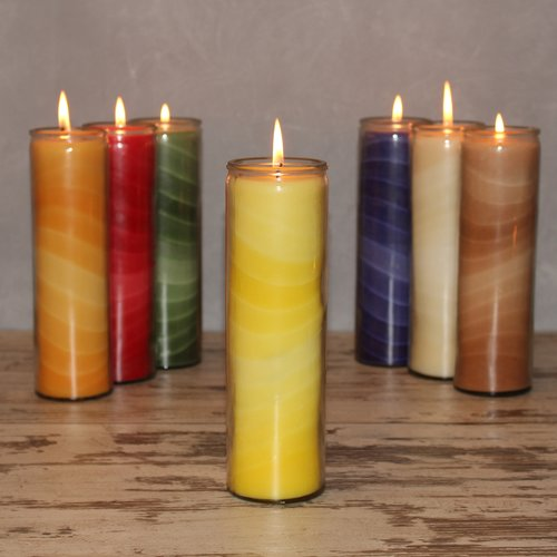Feng Shui NUANCE candle, about 20 cm, YELLOW