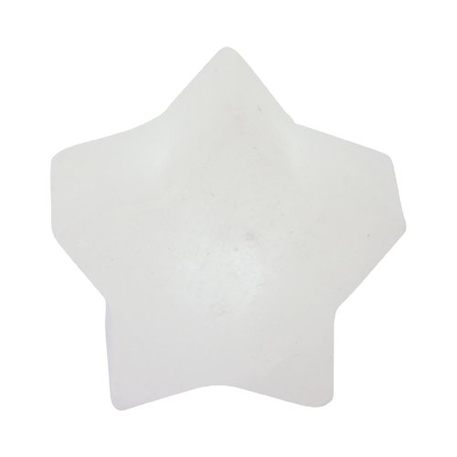 Illuminated Salt Crystal LED STAR, White Line