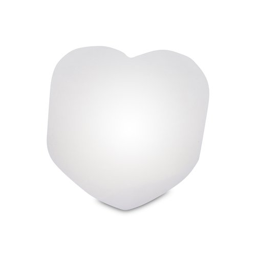 Illuminated Salt Crystal LED HEART, White Line