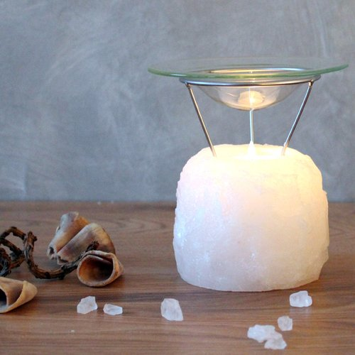 Salt Crystal Aromalamp PETITE ROCK White Line