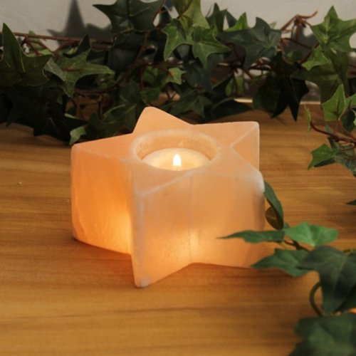 Salt Crystal Tealight Candleholder STAR