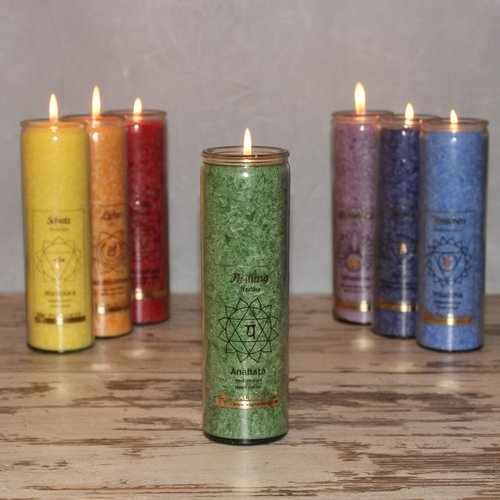 CHAKRA candle, ca. 20 cm, GREEN