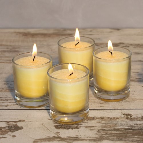 Feng Shui NUANCE candle, ca. 6 cm, set of 4, YELLOW