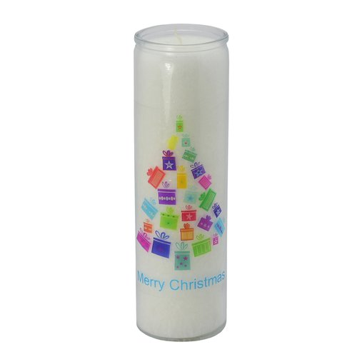 PALM LIGHT candle, ca. 20 cm, X-MAS TREE, white