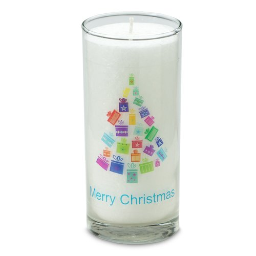 PALM LIGHT candle, X-MAS TREE, white, ca. 14 cm