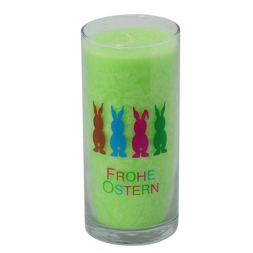 PALM LIGHT Candle, ca. 14 cm, EASTER BUNNY, LIME GREEN