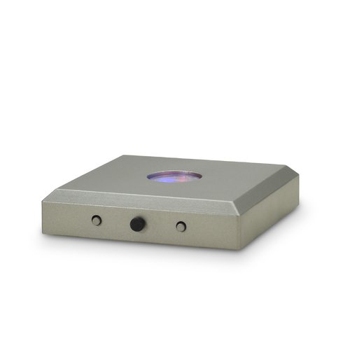 LED-BASE square, 5 LEDs, silver